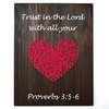 String Art Heart - Scripture by Heartstrings and Creative Things