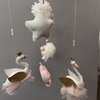 Dreamy blush and gold Swan Princess Mobile by Wishfull Thinking