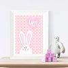 PINK RABBIT WALL ART PRINTABLE by hcmorrison printables