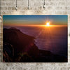 Sunset from Table Mountain on Canvas by Vermeulen Photography