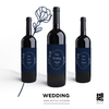 Wedding Wine Bottle Lables by Ebb & Ive Designs