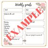 Perfectly planned weekly goals printable by bunnyrabbit