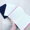 Custom Black Notebook A5 for wedding planning and notes by Polkadot Box