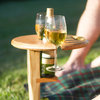 """Pic-wik"" table (picnic + wine = pic-wik)​ by Valley Wood"