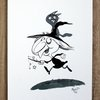 Mischief Makers, Gouache painting, Art for kids, Witch with cat by Terrapin and Toad
