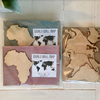 Wooden World Wall Map (small) by World Wall Maps