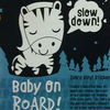 Zebra  - Baby on Board Vinyl Car Sticker by Tip Toe