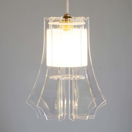 Light the swirly one flat pack perspex chandelier small hello get aloadofball Choice Image