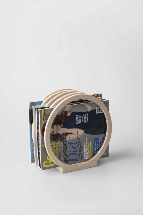 Round Magazine Rack (Holds 10 Magazines) by Native Decor