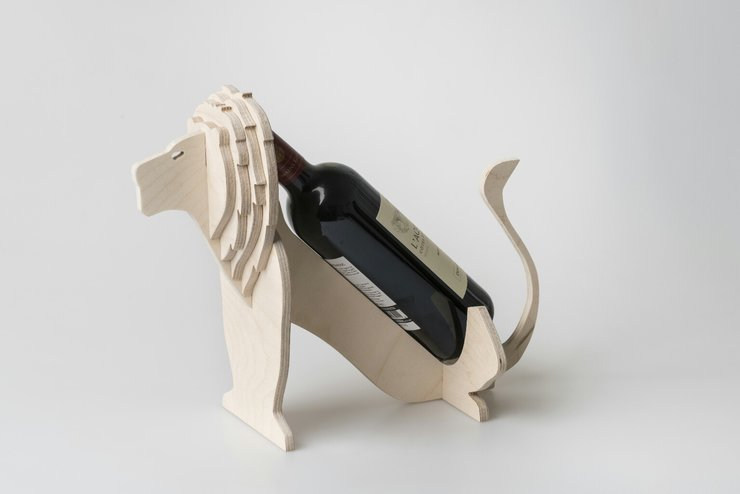 Lion Wine Holder by Native Decor