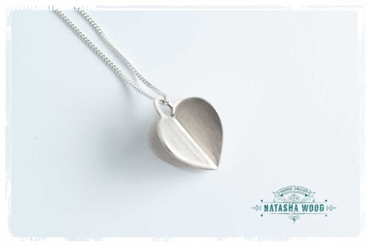 3d silver heart pendant large hello pretty buy design 3d silver heart pendant large by natasha wood jewellery aloadofball Choice Image