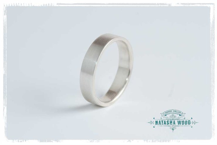 Simple Silver Ring by Natasha Wood Jewellery