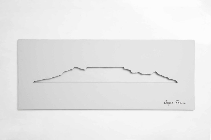 Cape Town Skyline (White) by Native Decor