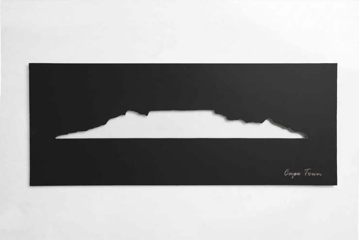 Cape Town Skyline (Black) by Native Decor