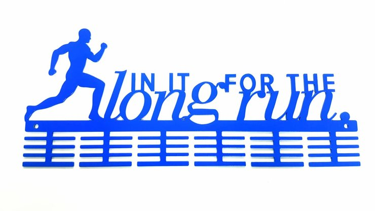 In it for the long run 48 tier medal hanger Blue by Medal Hanger & Home Décor Specialists - DC Designers