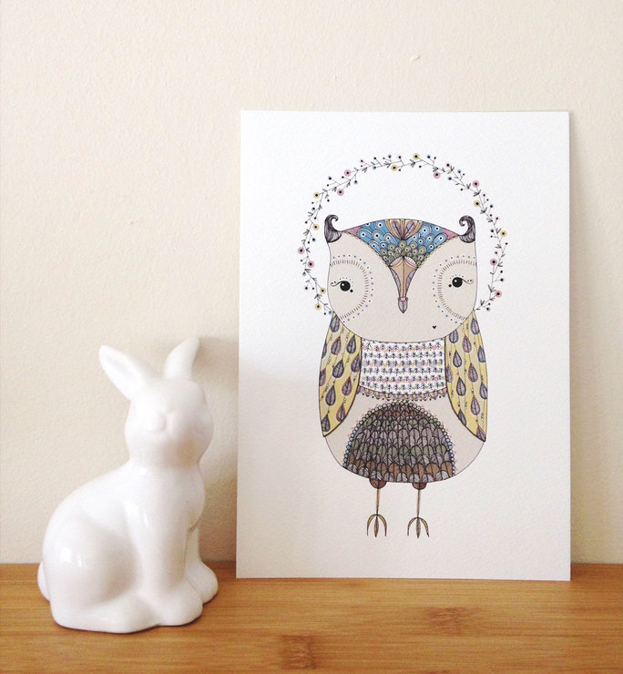 Owl Art-print | A5 by illo