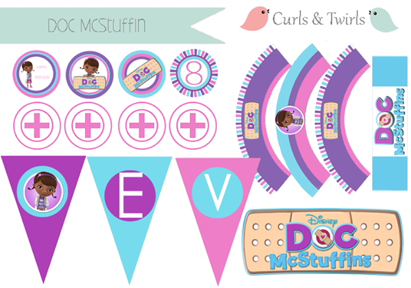 Doc Mcstuffin Party Printables By Curls Amp Twirls