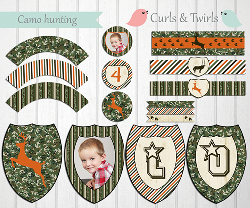 Camo Hunting Party Printables By Curls Amp Twirls Party