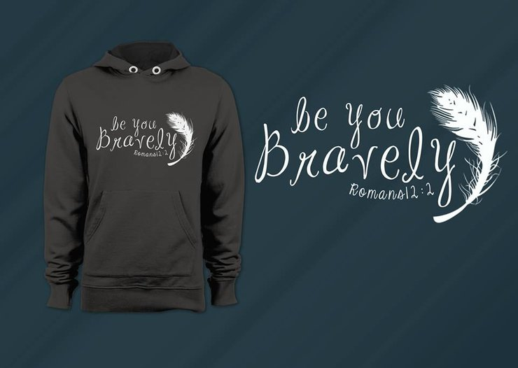 Be You Bravely Hoodie by Guilty & Co and Tootsie & Beau