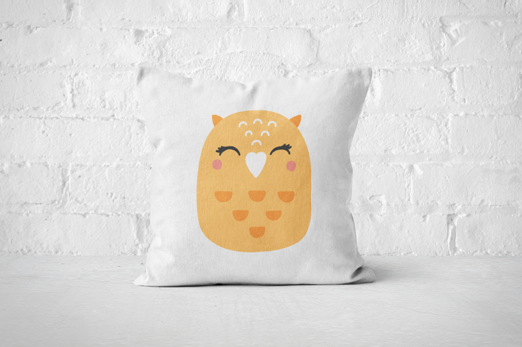 Smiley Critter 10 - Pillow Cover by But Why Not