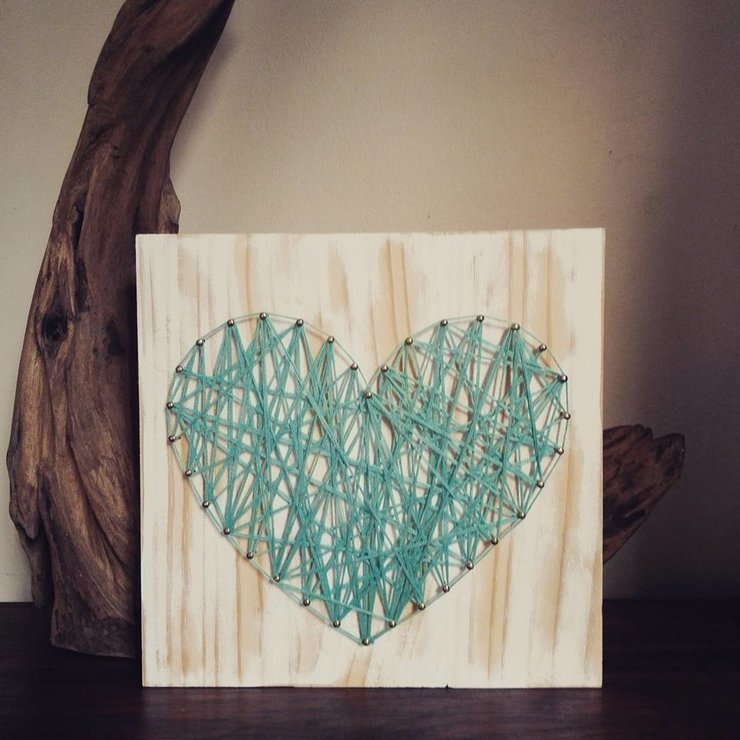 Shabby Chic Heart String Art by Heartstrings and Creative Things