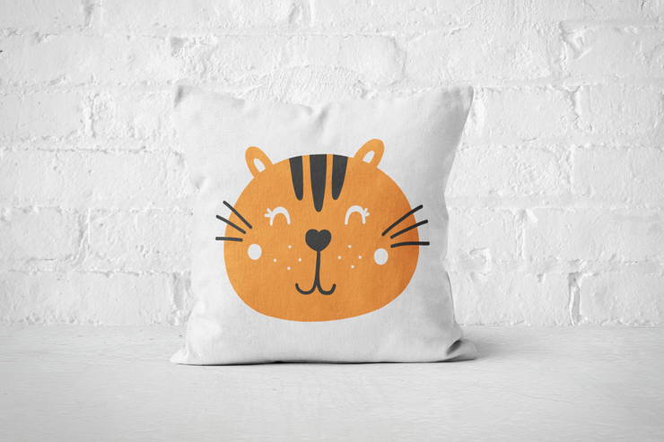 Smiley Critter 11 - Pillow Cover by But Why Not