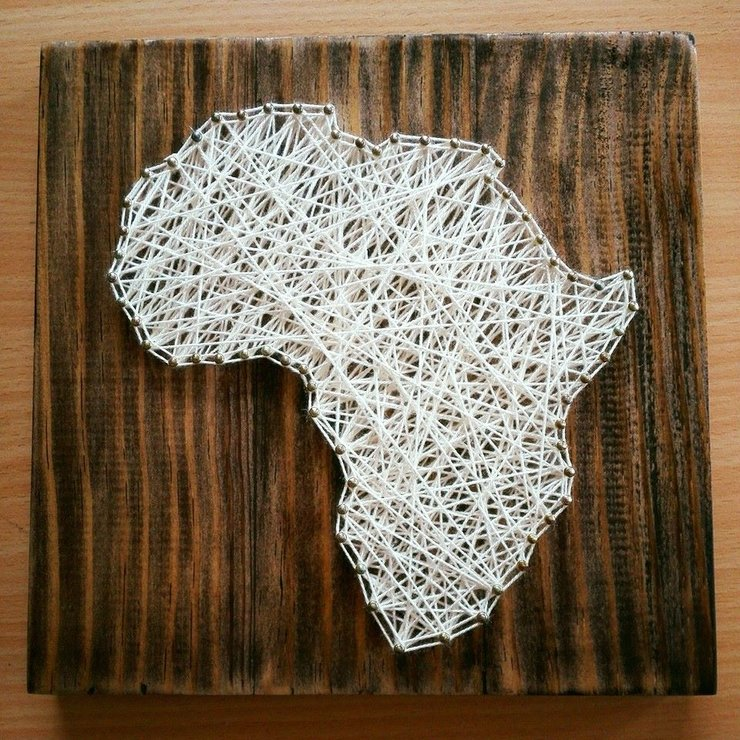 Africa String Art By Heartstrings And Creative Things