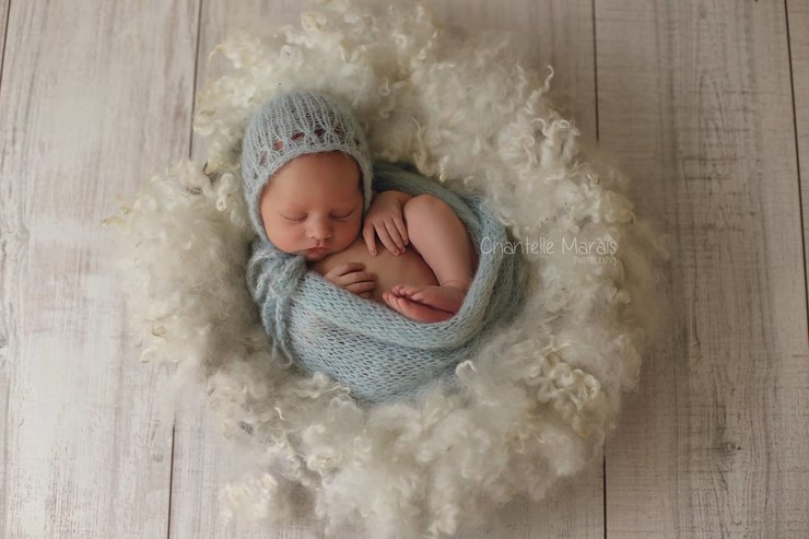 Newborn set. Brushed alpaca and silk newborn bonnet and wrap set, newborn photo prop. LB-19 by Lavender Blossoms Props