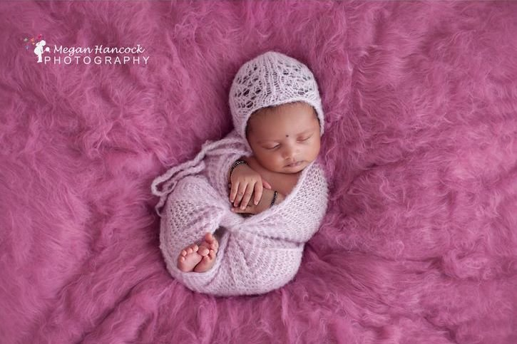 Newborn set. Brushed alpaca and silk newborn bonnet and wrap set. LB-22 by Lavender Blossoms