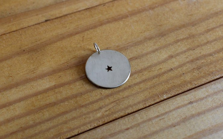 Single star brass pendant by Aurea Jewellery Design