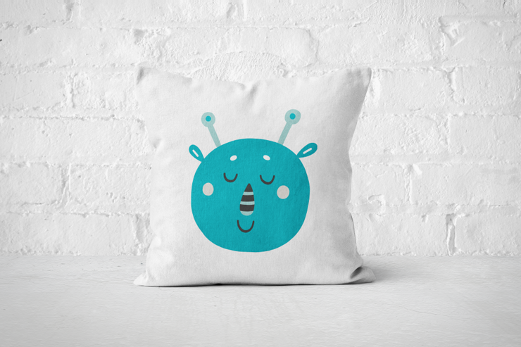 Smiley Critter 12 - Pillow - Cover by But Why Not