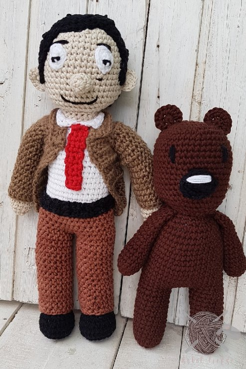 Mr Bean and Teddy by Hekelliefde