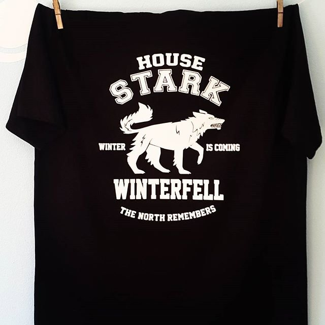 2c1a065285ff House Stark Game of Thrones T Shirt   Winterfell   The North ...