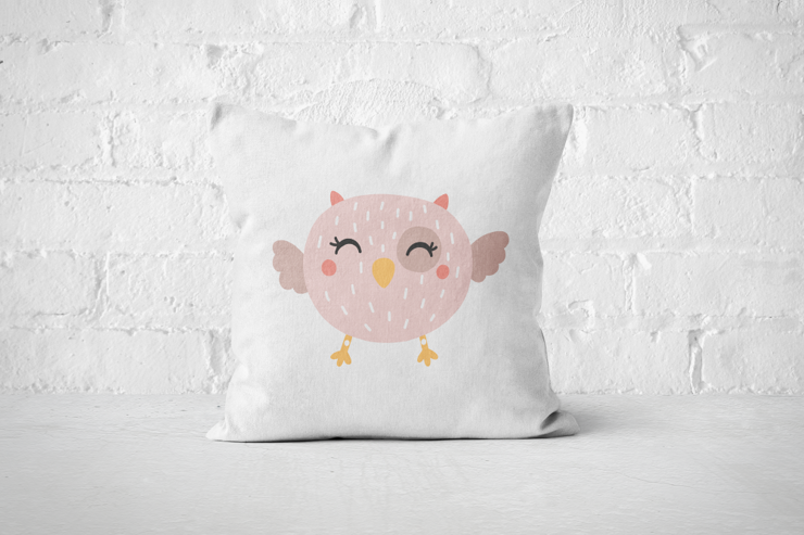 Smiley Critter 13 - Pillow Cover by But Why Not