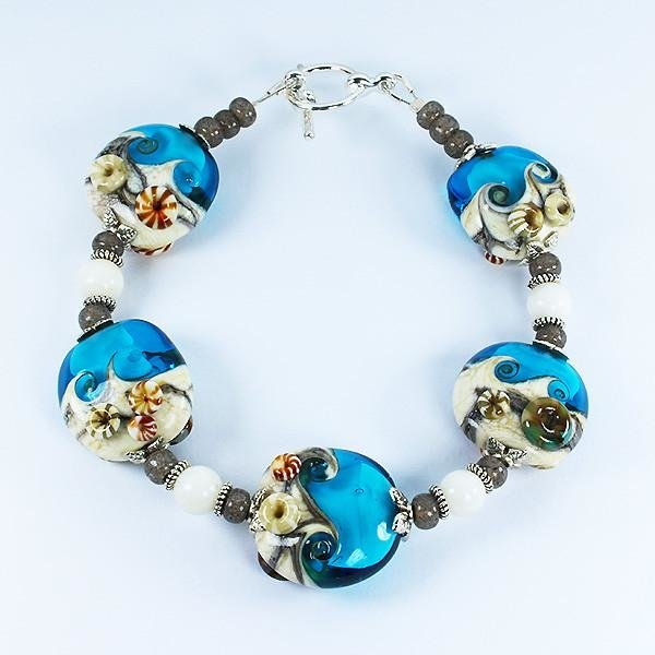 Seaside Turquoise Bracelet by Dragonfire Beads Online
