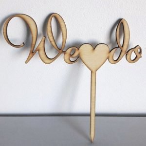 We Do Wedding Cake Topper (wood or acrylic) by Polkadot Box
