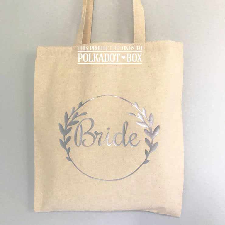 Bride Wreath Tote Bags  by Polkadot Box