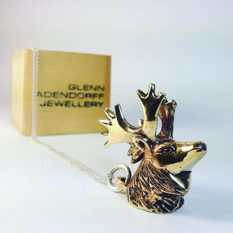 Moose Pendant  by  Glenn Adendorff Jewellery
