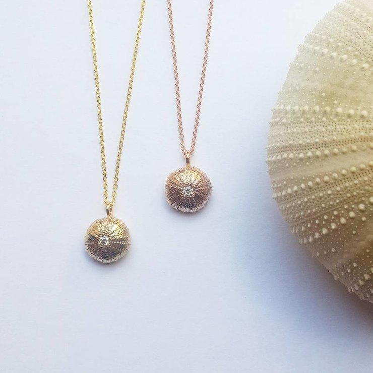 Limited Edition Solid Gold Sea Urchin Necklace by Jewellery by Jessica