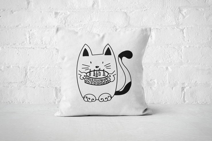 Birthday Cat - Pillow Cover by But Why Not