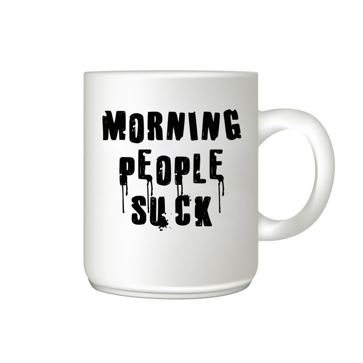 Coffee Mug - Morning people suck by The Gift Factory