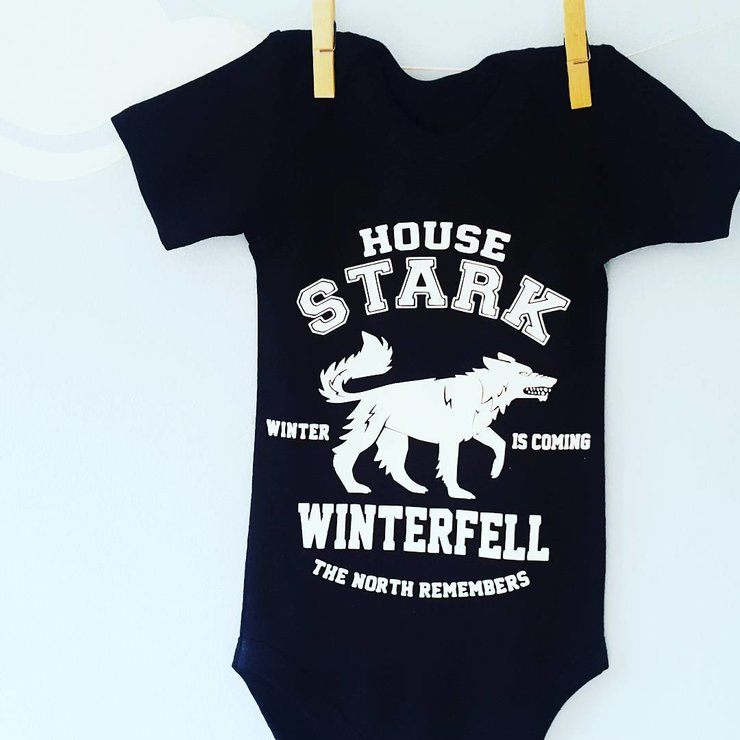 736549607aac House Stark Game of Thrones Onesie   Winterfell   The North ...