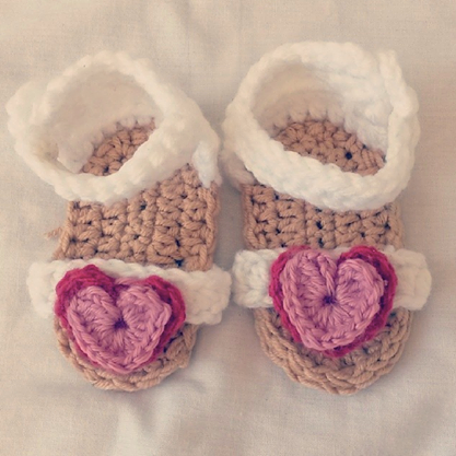 12a4f62aa800 Crochet Baby Sandals by Oh! Crochet