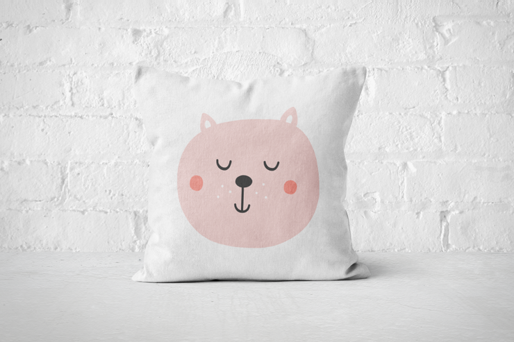 Smiley Critter 1 - Pillow Cover by But Why Not