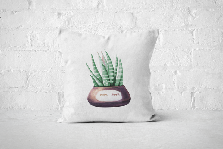 Cacti Party 1 | Pillow Cover by But Why Not