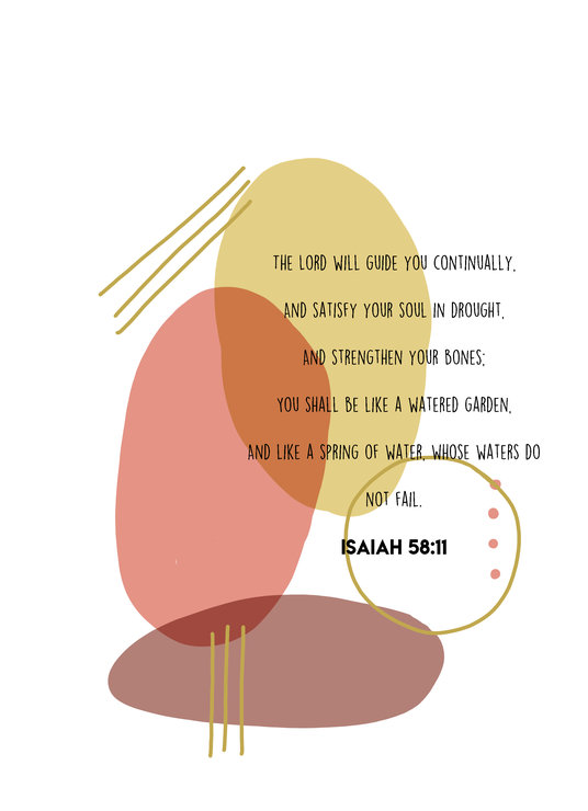 Printable: Isaiah 58:11 by Sew & Such