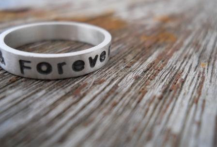 Forever Always Handstamped Ring Hello Pretty Buy Design