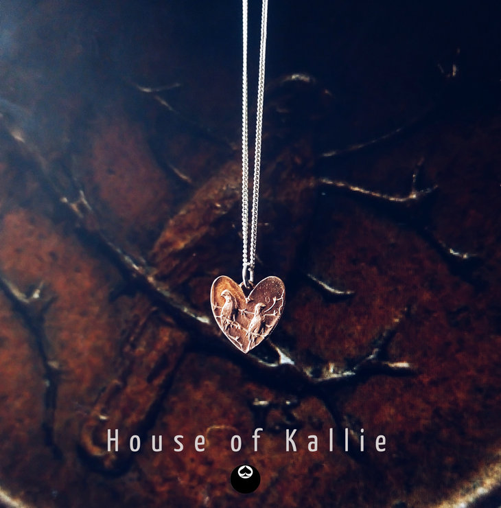 The One Cent Heart Pendant  by House of Kallie