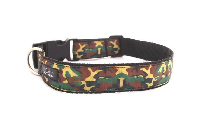 L Large Camo Dog Collar by Willow Pet Accessories