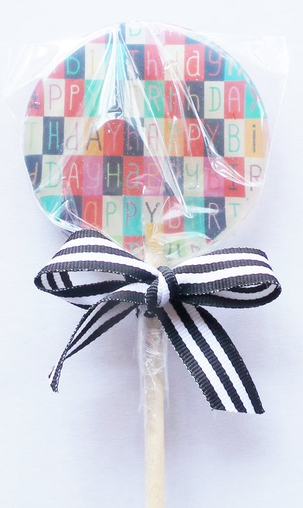 Customized Handcrafted Happy Birthday Lollipops by MungLi Lolli Co.